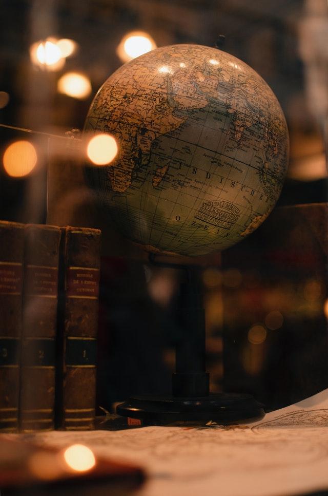 globe terrestre très vintage pour la décoration